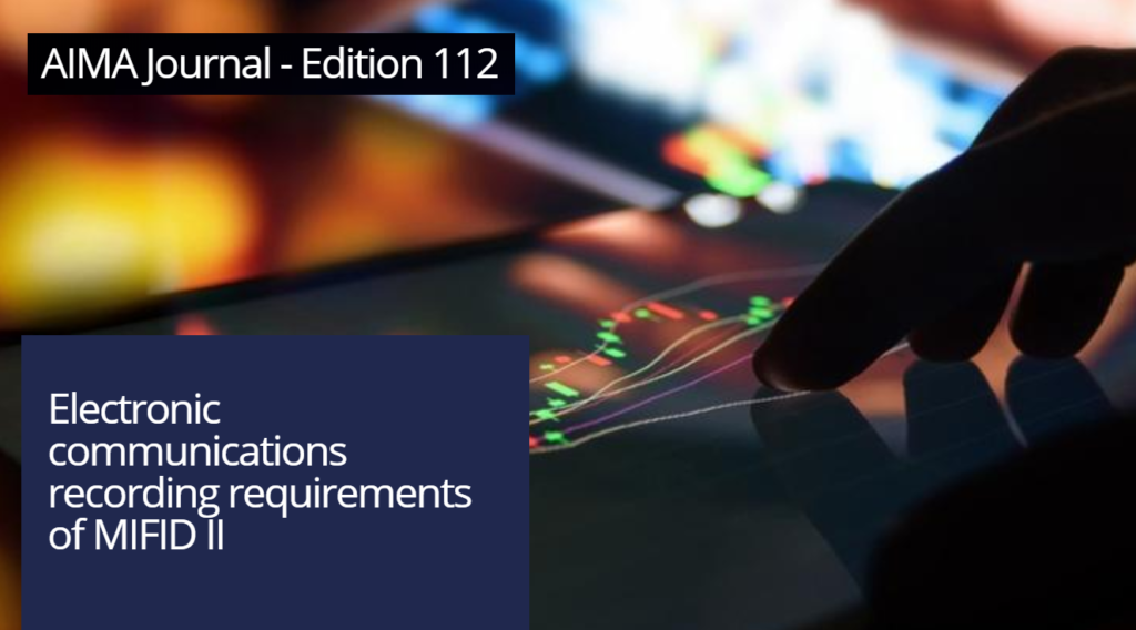 Electronic Communications Recording Requirements of MiFID II